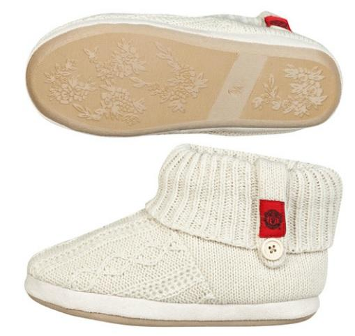 曼联队徽翻边拖鞋- 类白色 - 女童款