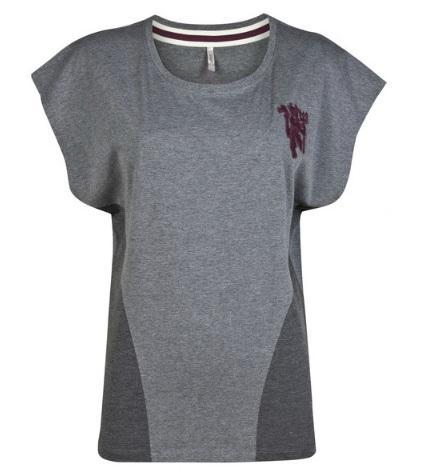 曼联球衣-曼联随性 T 恤衫 - 红葡萄酒麻色 - 女款