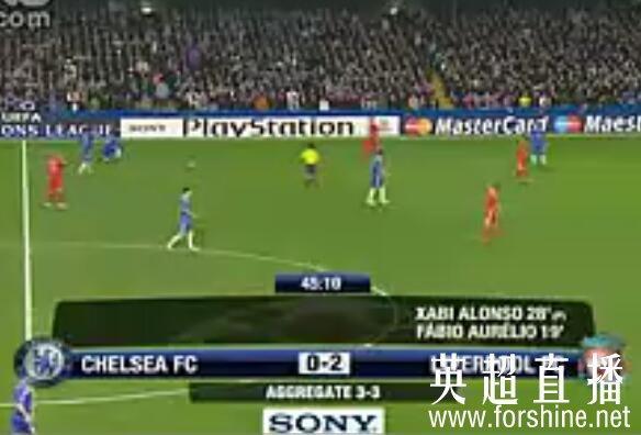 <b>2008/2009赛季 欧冠1/4决赛 切尔西vs利物浦 全场录像回放</b>